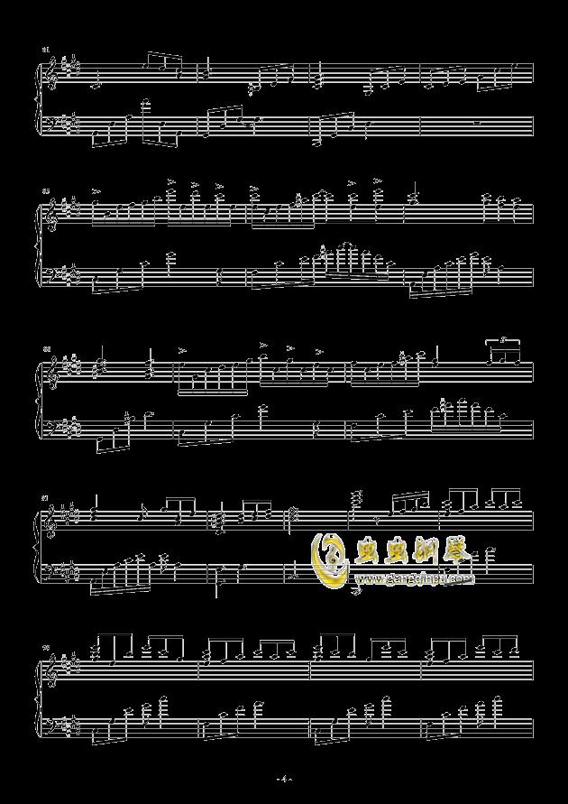 流行 三钢琴谱 第4页
