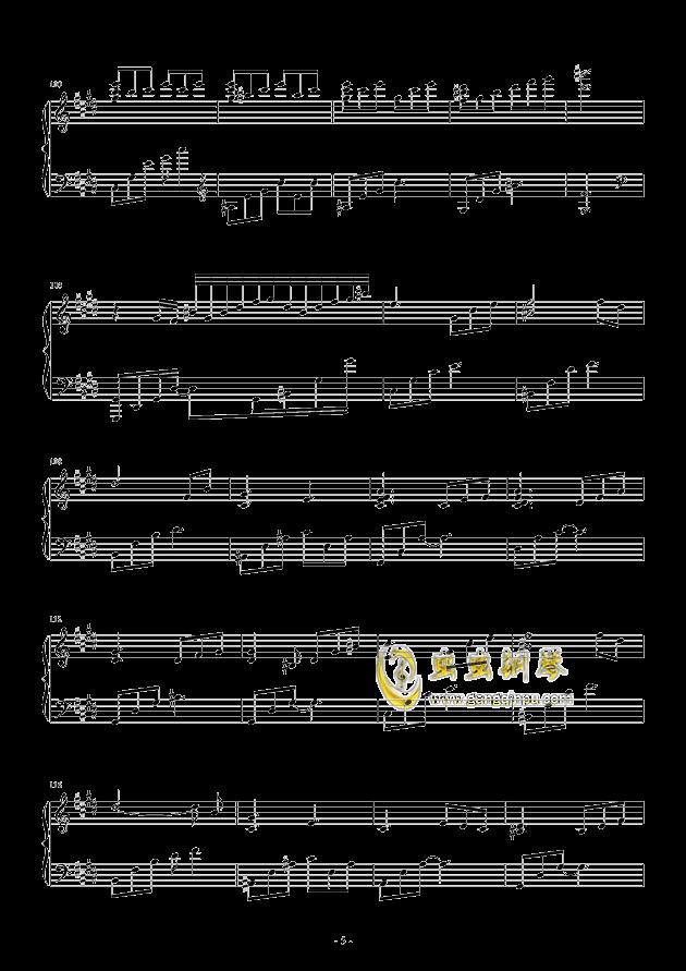 流行 三钢琴谱 第5页