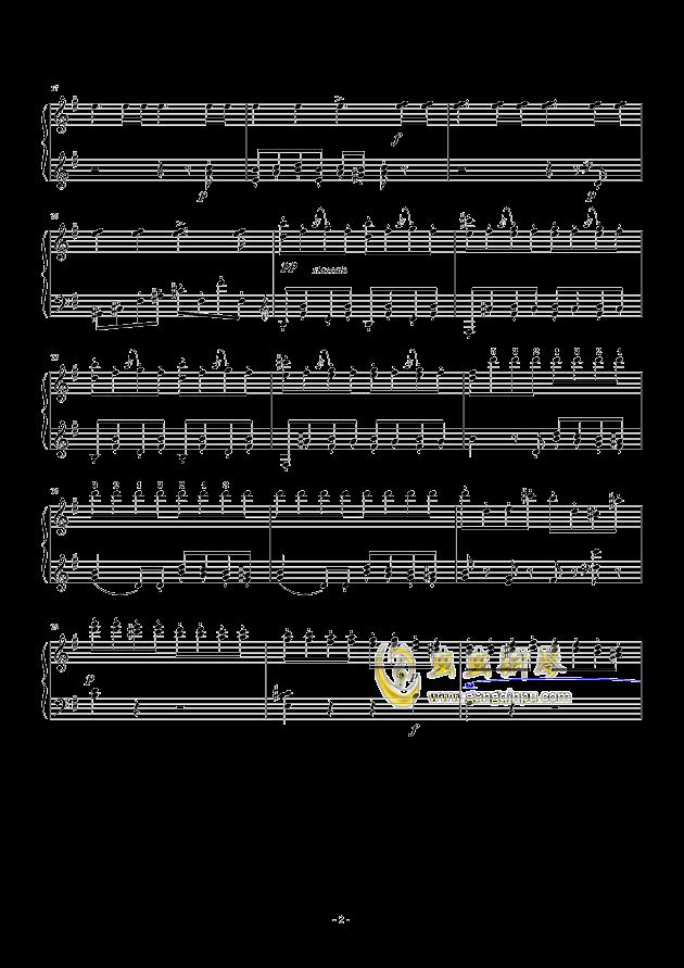 谐谑曲钢琴谱 第2页