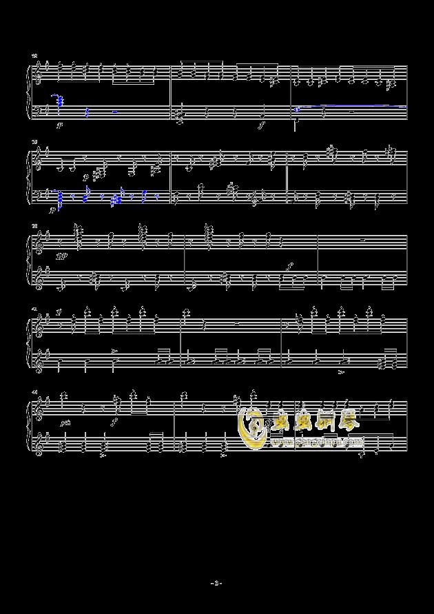 谐谑曲钢琴谱 第3页