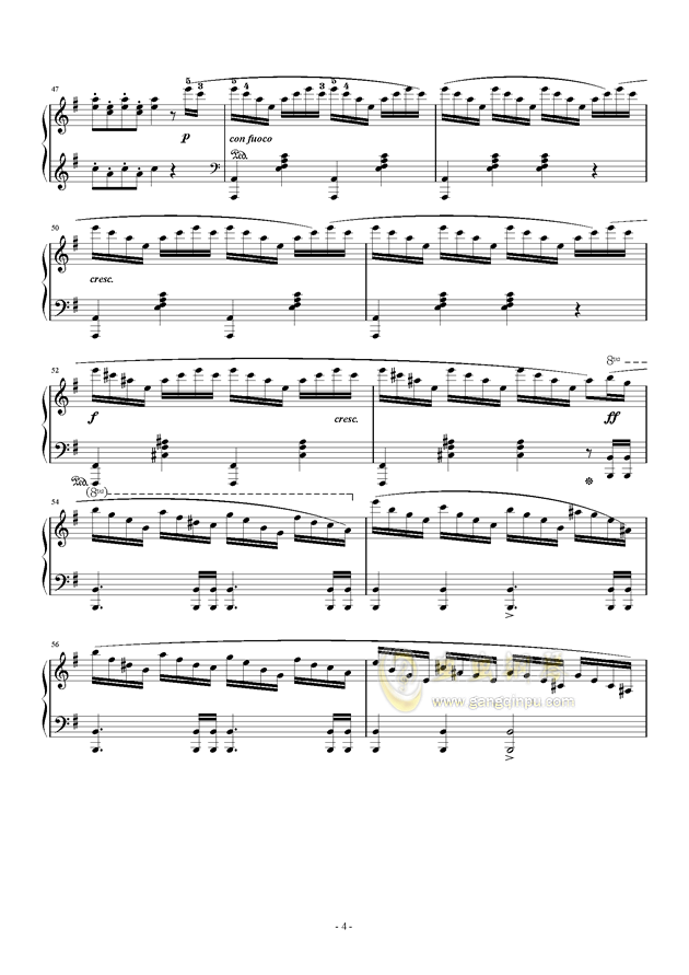 谐谑曲钢琴谱 第4页