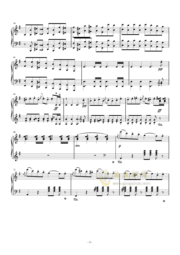 谐谑曲钢琴谱 第5页