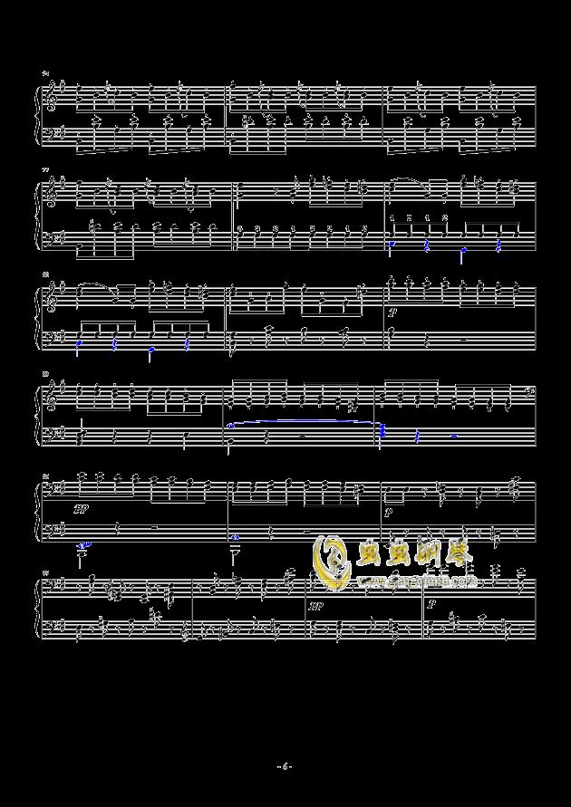 谐谑曲钢琴谱 第6页