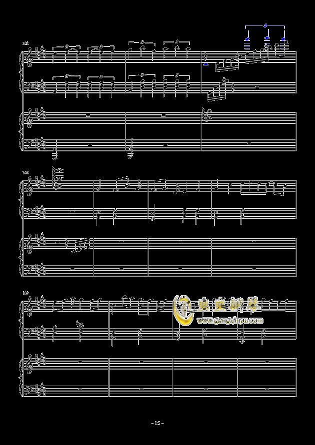 风与秋夜钢琴谱 第15页