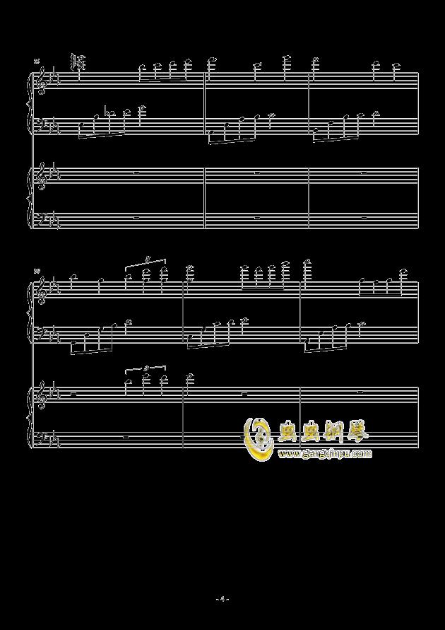 风与秋夜钢琴谱 第4页