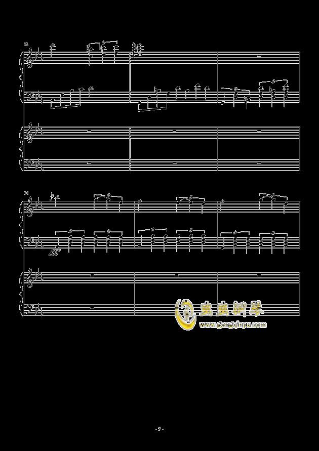风与秋夜钢琴谱 第5页