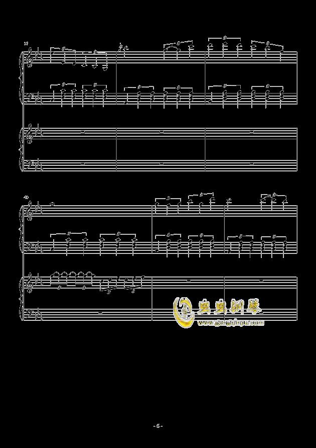 风与秋夜钢琴谱 第6页