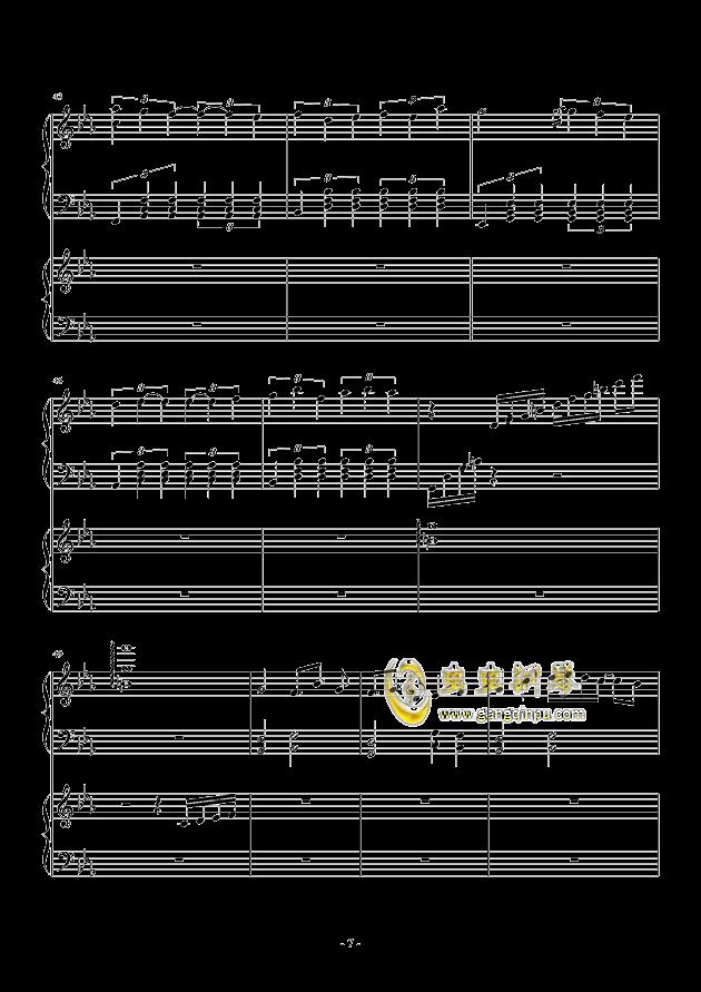 风与秋夜钢琴谱 第7页