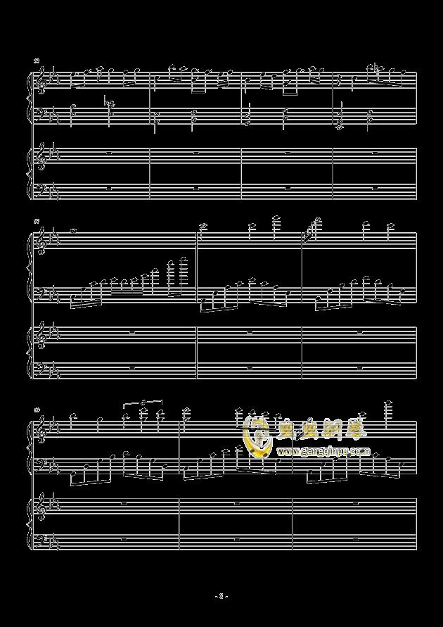 风与秋夜钢琴谱 第8页