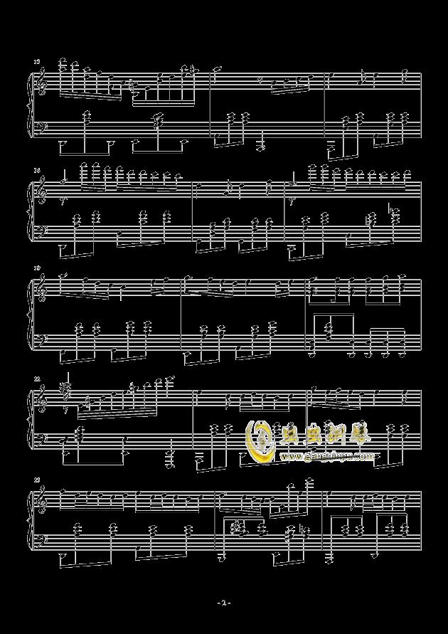 遗忘钢琴谱 第2页