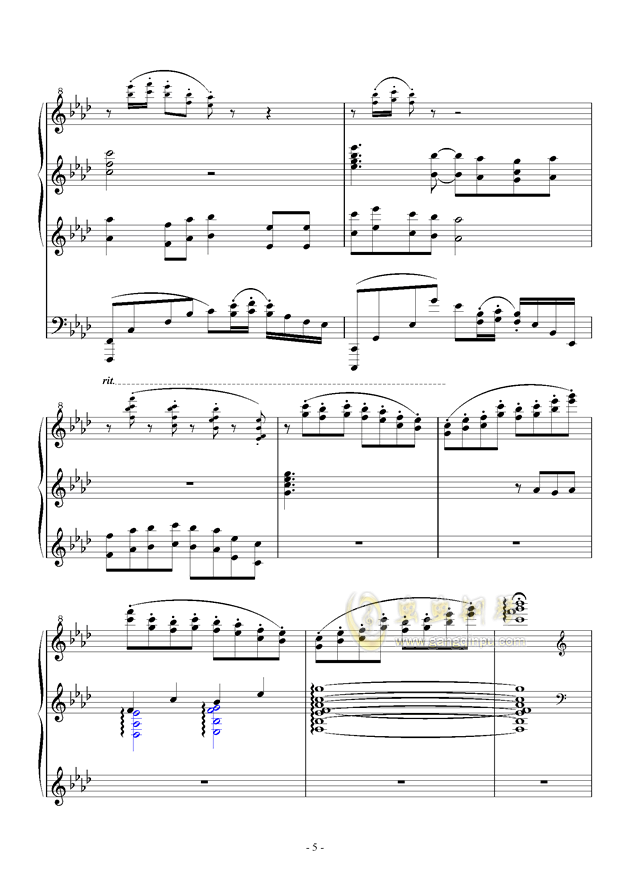最炫の冬花钢琴谱 第5页
