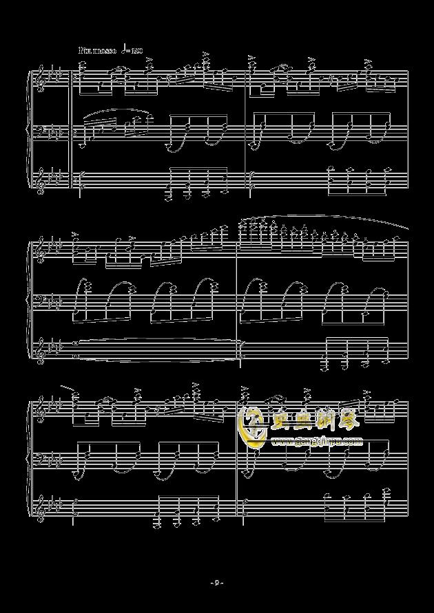 最炫の冬花钢琴谱 第9页