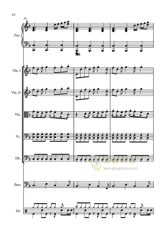 星钢琴谱 第10页