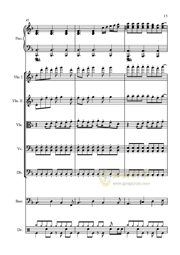 星钢琴谱 第13页