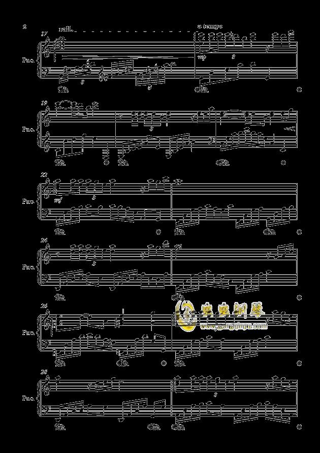 闷心钢琴谱 第2页