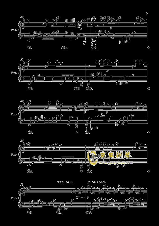 闷心钢琴谱 第3页