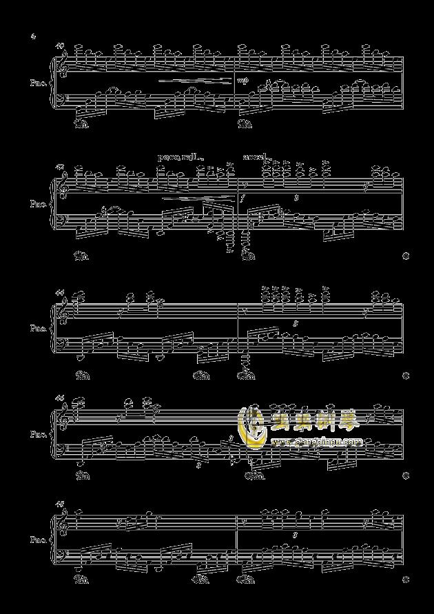 闷心钢琴谱 第4页