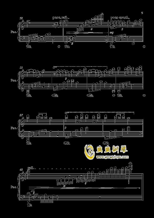 闷心钢琴谱 第5页