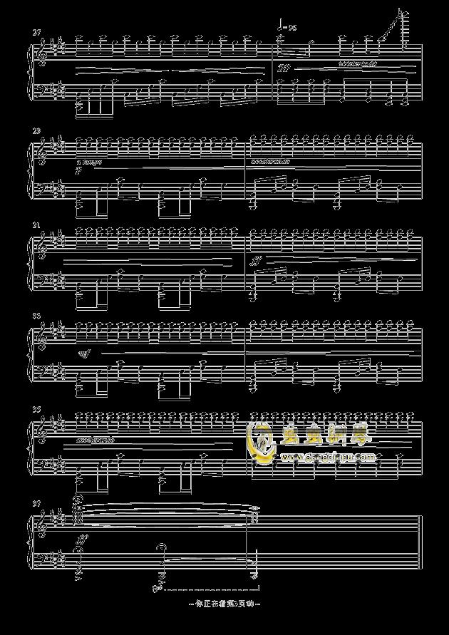 崎岖钢琴谱 第3页