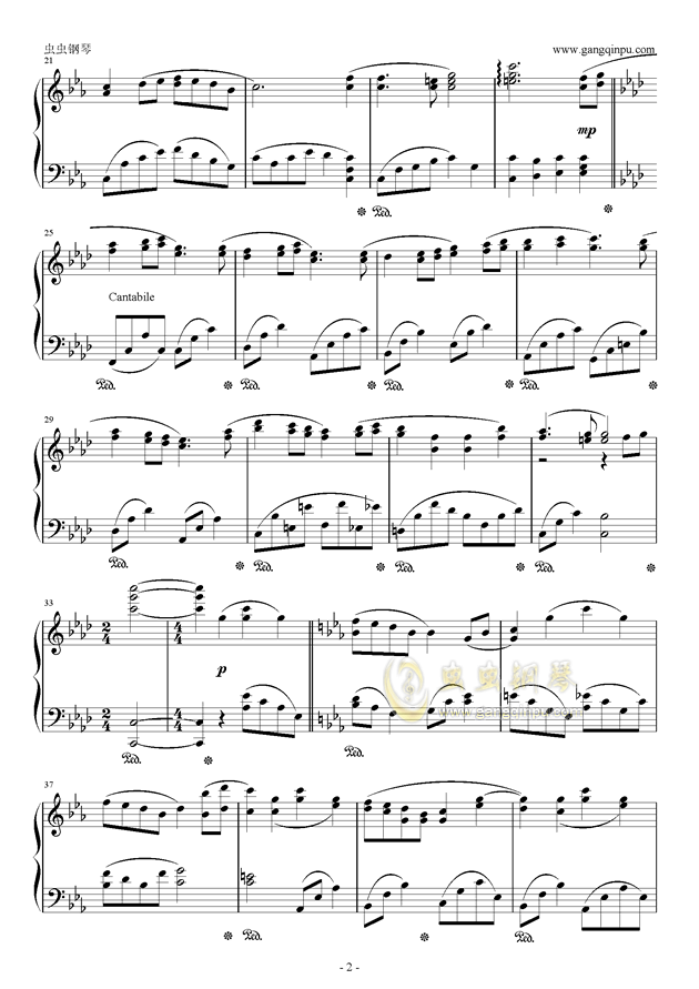 fairytale钢琴谱 第2页