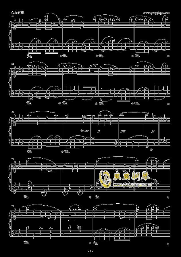 fairytale钢琴谱 第4页