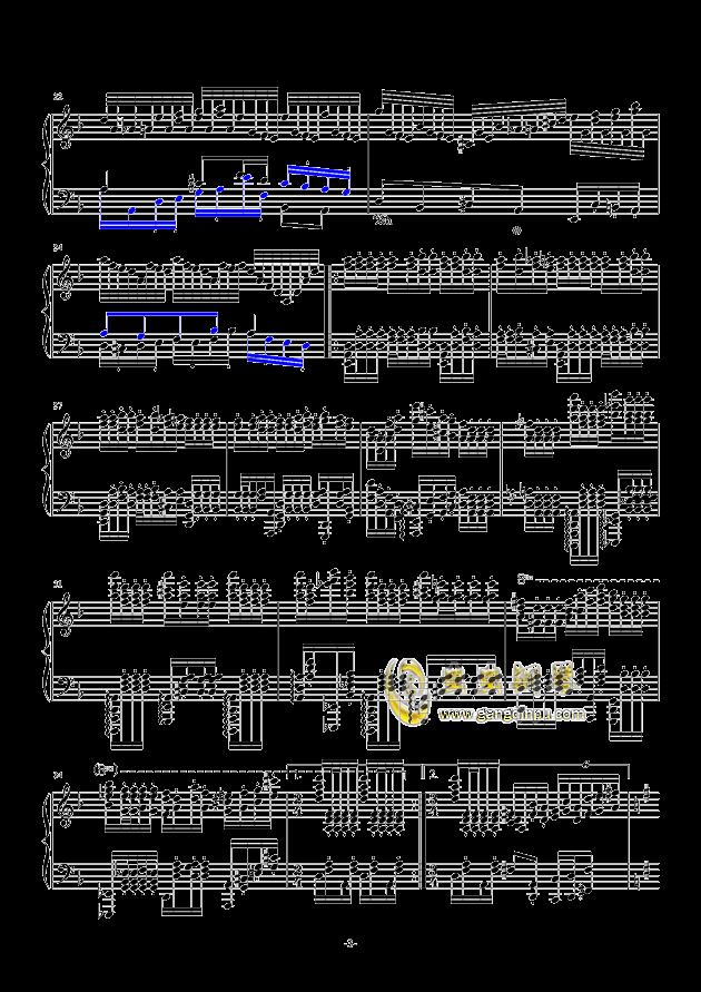 秋霜奏鸣曲钢琴谱 第3页
