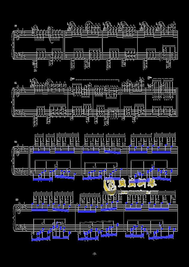 秋霜奏鸣曲钢琴谱 第7页
