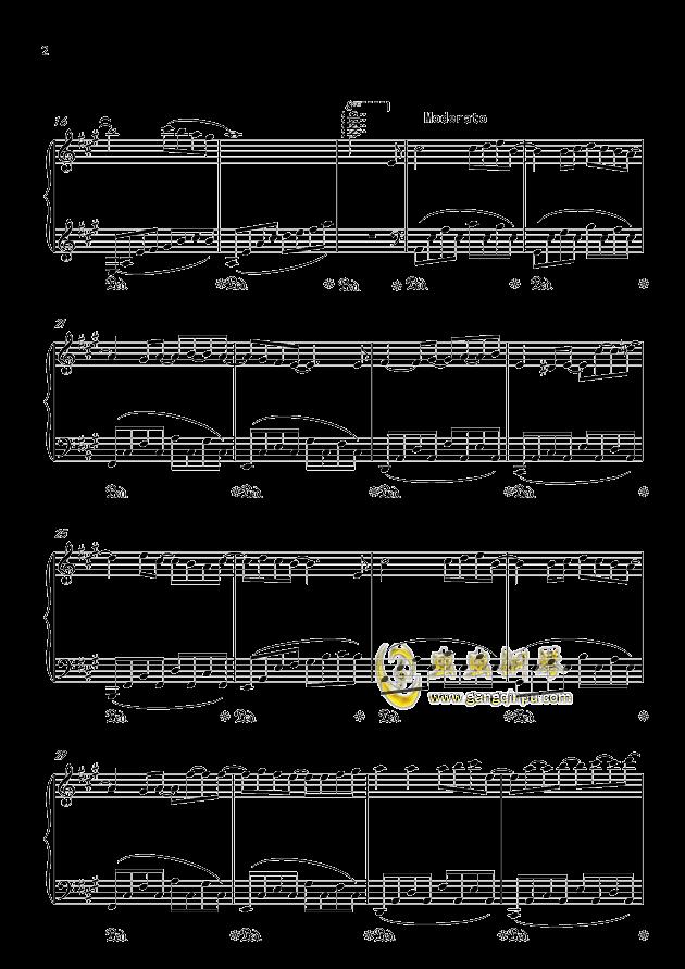纪念钢琴谱 第2页
