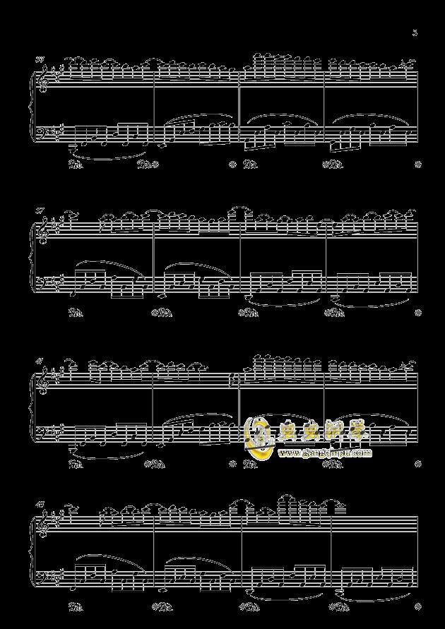 纪念钢琴谱 第3页
