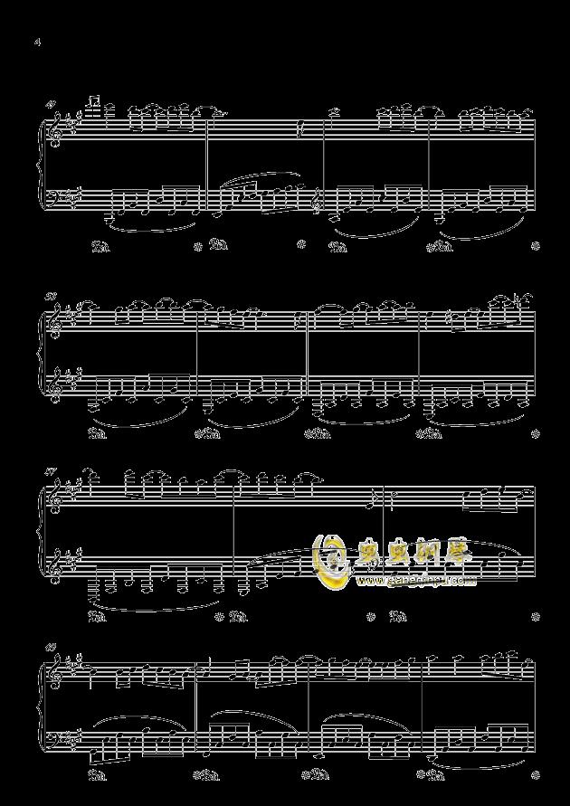 纪念钢琴谱 第4页