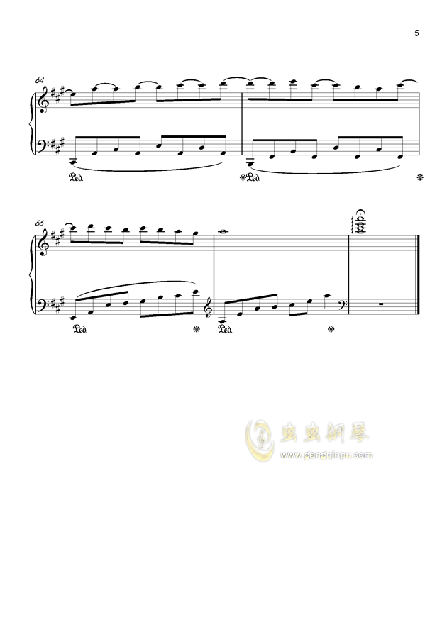 纪念钢琴谱 第5页