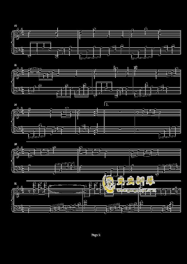 直觉女版简谱_直觉钢琴谱简谱
