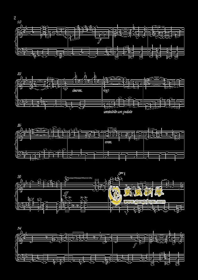 鲁邦三世2015钢琴谱 第2页