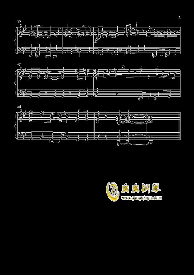 鲁邦三世2015钢琴谱 第3页