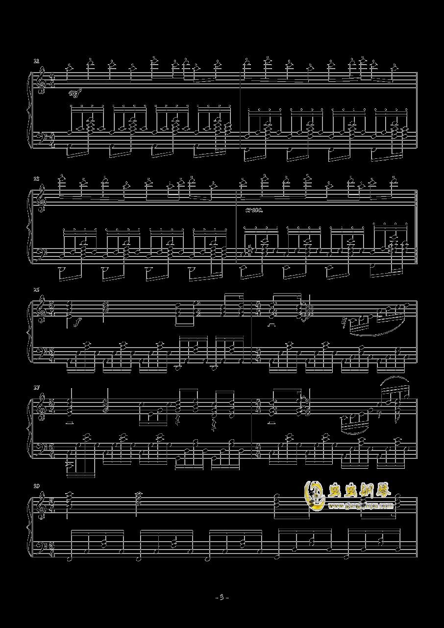 La Ballata Di Sacco E Vanzett钢琴谱 第3页