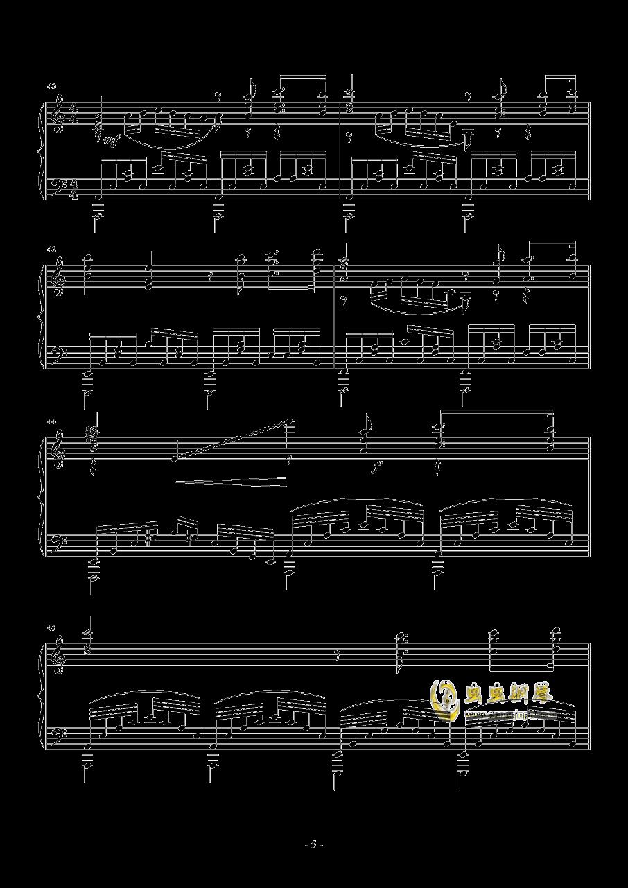La Ballata Di Sacco E Vanzett钢琴谱 第5页