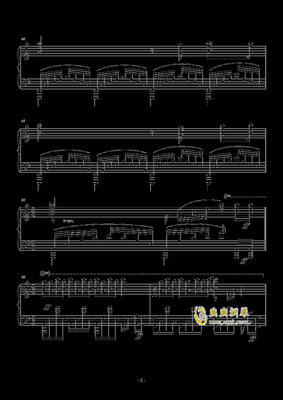 La Ballata Di Sacco E Vanzett钢琴谱 第6页
