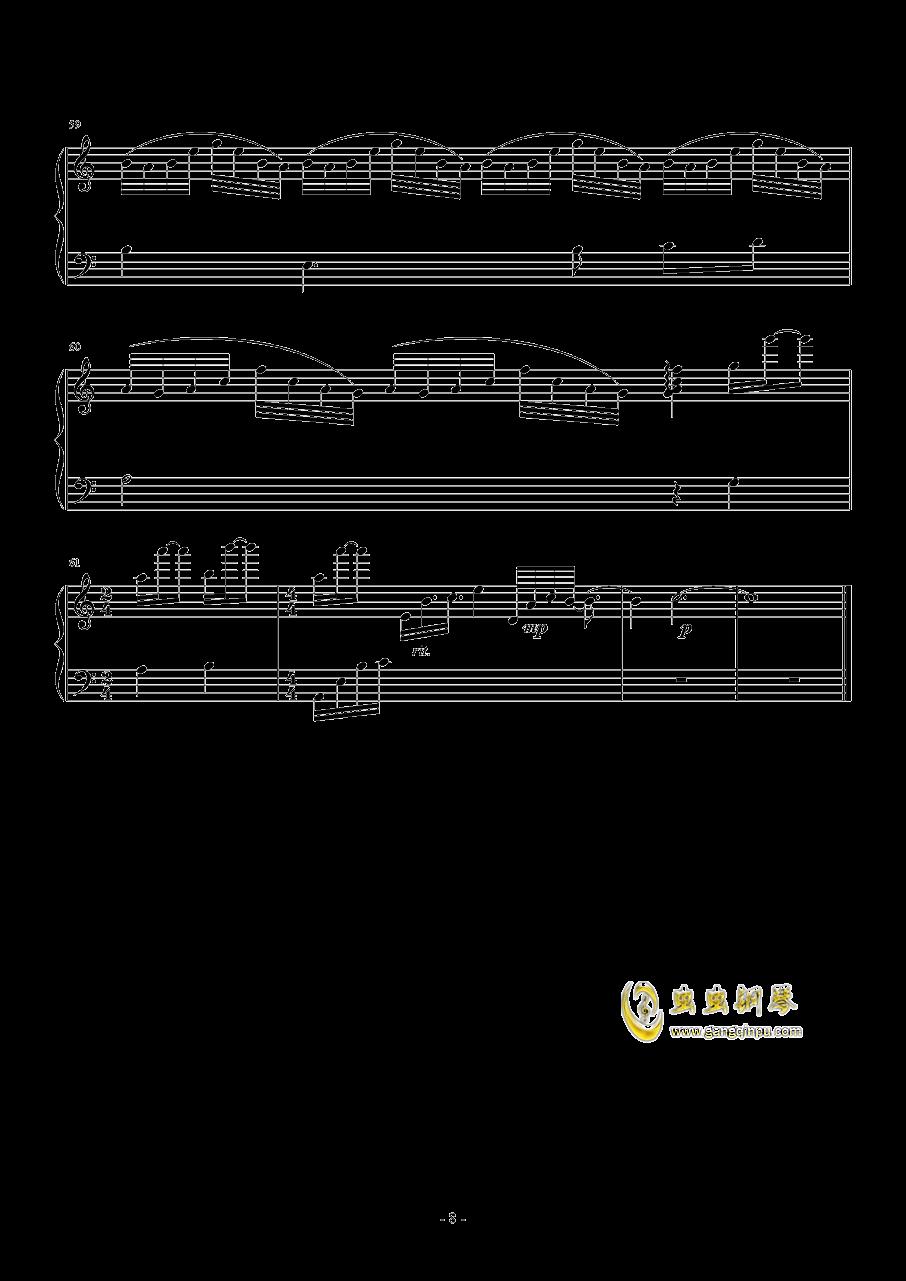 La Ballata Di Sacco E Vanzett钢琴谱 第8页