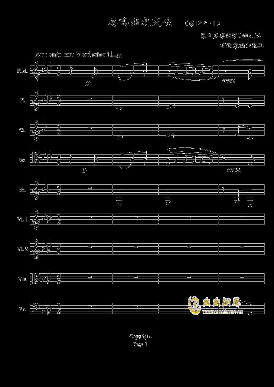 奏鸣曲之交响钢琴谱 第1页