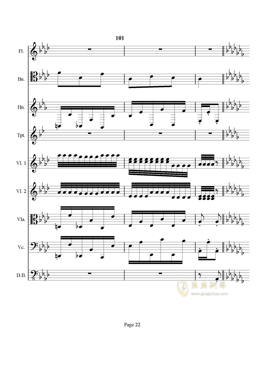 奏鸣曲之交响钢琴谱 第22页