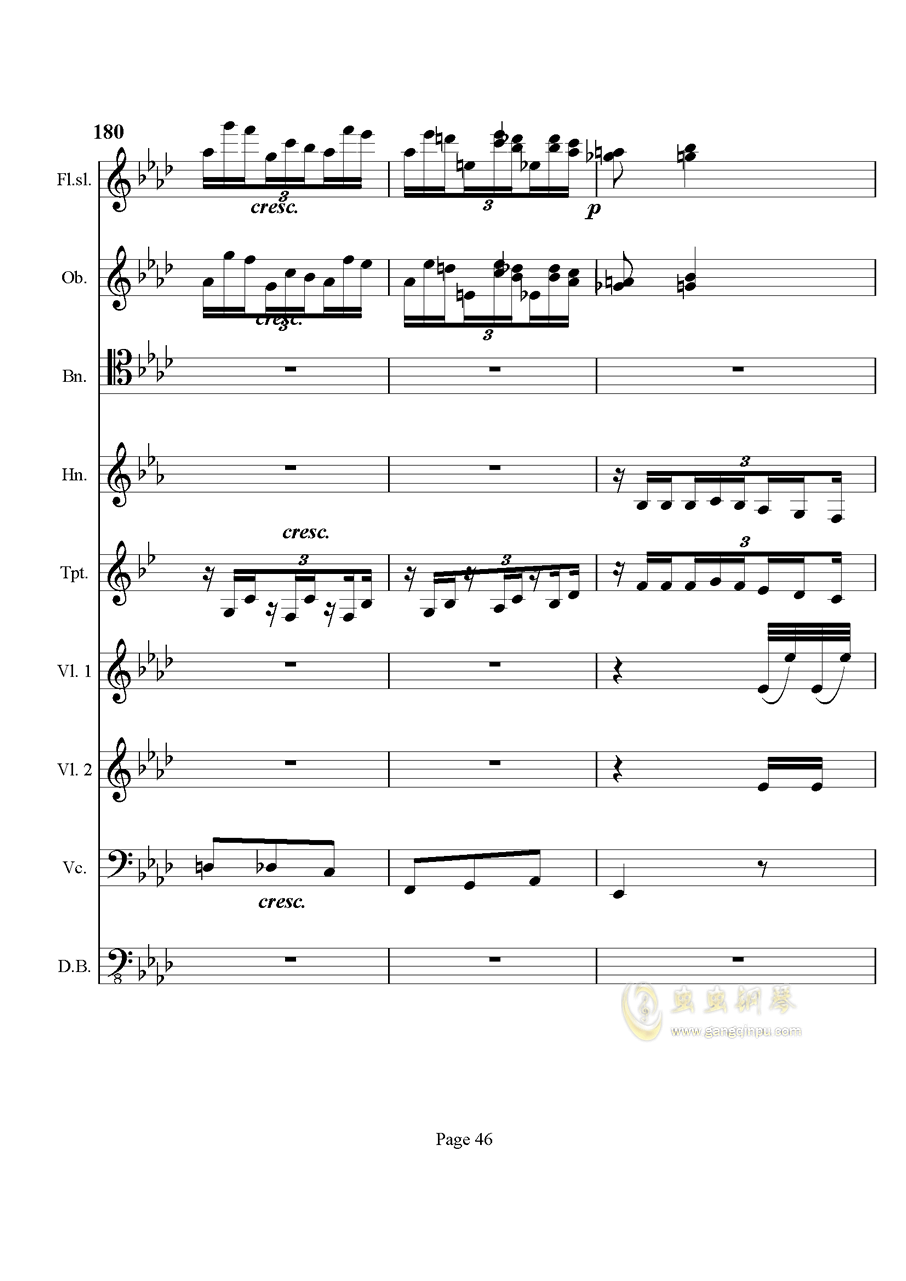 奏鸣曲之交响钢琴谱 第46页
