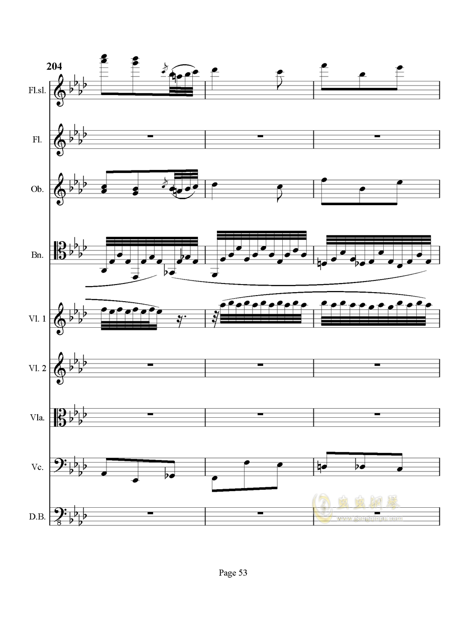奏鸣曲之交响钢琴谱 第53页