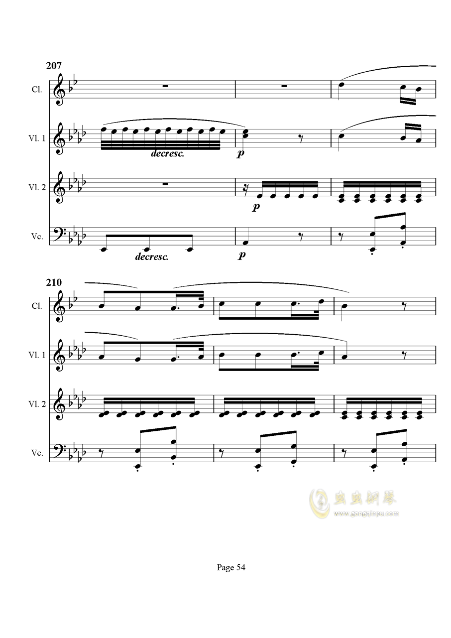 奏鸣曲之交响钢琴谱 第54页