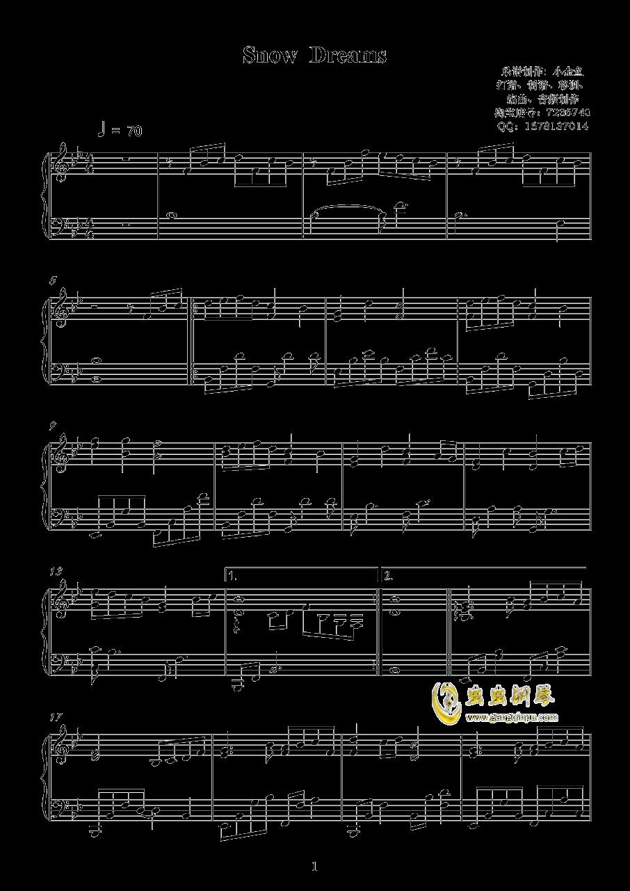 Show Dreams钢琴谱 第1页