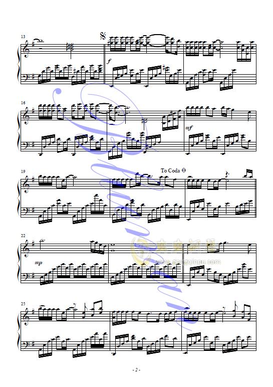 来生缘钢琴谱 第2页