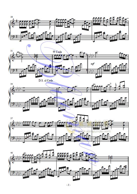 来生缘钢琴谱 第3页