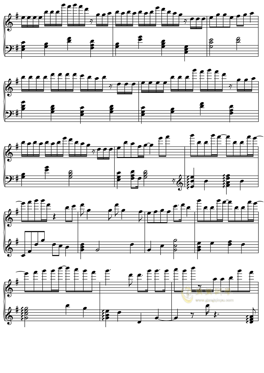 初音未来 オレンジ钢琴谱 第2页