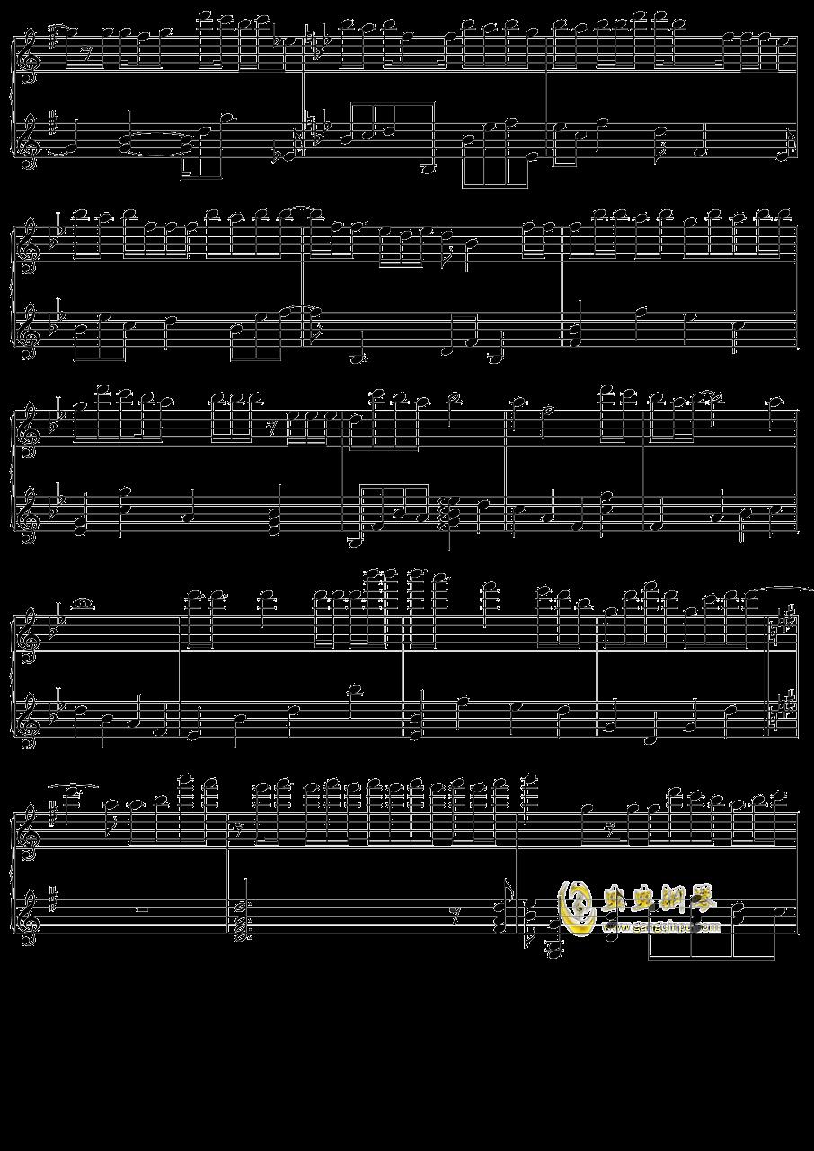 初音未来 オレンジ钢琴谱 第5页