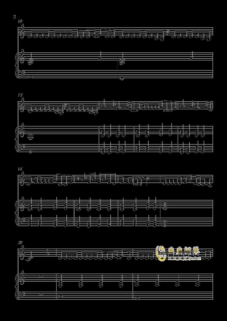 Million reasons钢琴谱 第2页