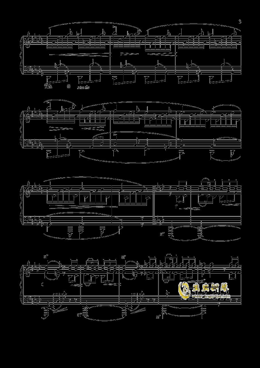 舒曼 幻想曲集 Op.12 冲动钢琴谱 第3页